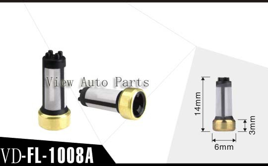 50pcs WholesaleMotorcycle Fuel Injector filter Micro Basket Filter top quality Size: 6*3*14mm VD-FL-1008A(China (Mainland))
