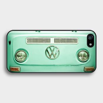 VW Mini Bus Vintage Volkswagen Bus mint fashion housing cover case for iphone 4 4s 5 5s 5c SE 6 6s & 6 plus 6s plus &TO1447(China (Mainland))