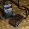 New High Quality Genuine Leather Cell Mobile Phone Case Small Messenger Shoulder Cross Body Belt Bag