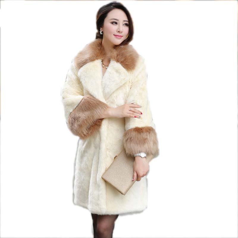 Trade new 2015 fox fur imitation fur coat thick warm fur collar coat NagymarosОдежда и ак�е��уары<br><br><br>Aliexpress