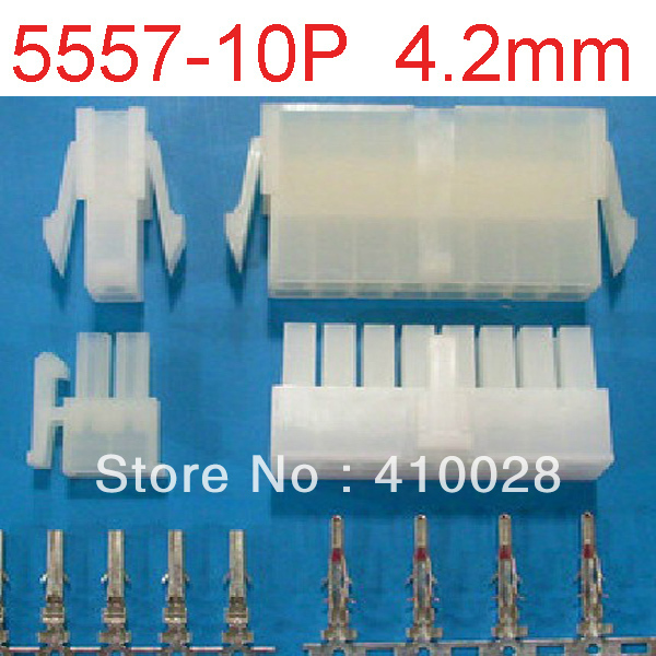 50sets  10 Pin/way 4.2mm 5557 wiring terminals Electrical connector kit (Housing+Terminal) for car/boat ect.Free Shipping<br><br>Aliexpress