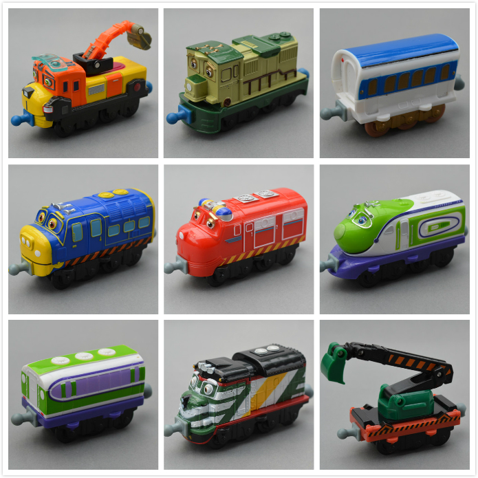 Small boy,girl kids' scale diecast model toy;child mini metal vehicle locomotive brinquedos;special Tomy chuggington trains set(China (Mainland))