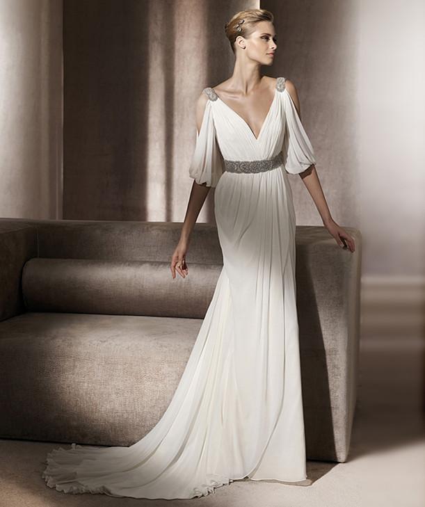 Popular grecian wedding dress buy cheap grecian wedding for Grecian wedding dress with sleeves