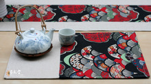 chinese style tea placemat coasters mat fabric / parquet table pad heat insulation doily(China (Mainland))