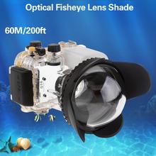 Mcoplus 60M/200ft Underwater X0.7 Amplification Coeficient Fisheye Lens for Canon Nikon Sony Panasonic Waterproof Housing Case