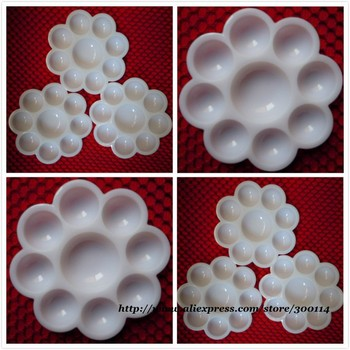 wholesale white color chart Nail Art beauty Practic paint acrylic gel Mixing Palette Draw Flower Dish 100pcs/lot  free shipping