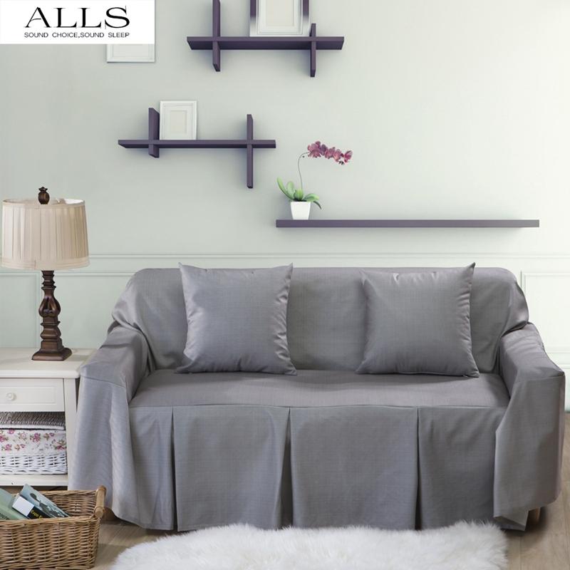 L shaped sofa cover for home grey blue sofa slipcover for Sofa arm covers blue