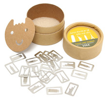 20pcs/set Bookmarks Card Paper Clip Book Line Marker Gift Craft Fancy Lovely Round Box Cartoon Boxed Metal Hollow Bookmark(China (Mainland))