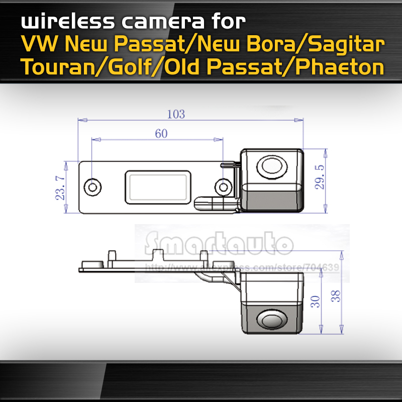 HD CCD whole stainless iron metal Wireless Car reverse Camera for New Passat Bora Sagitar Touran Golf Old Passat Phaeton(China (Mainland))