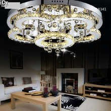 2016 New flower shape stainless steel  crystal  high quality bedroom lamp LED Ceiling  Shipping High-grade light D650xH110mm(China (Mainland))