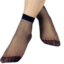 Newly Design 10 Pairs Women's Socks Crystal Thin Transparent Thin Silk Socks Socks In Summer Short Stockings