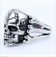 2016 Man's Ring Gothic Men's Skull Flower Biker Zinc alloy Ring Man fashion rings Free shipping sa957