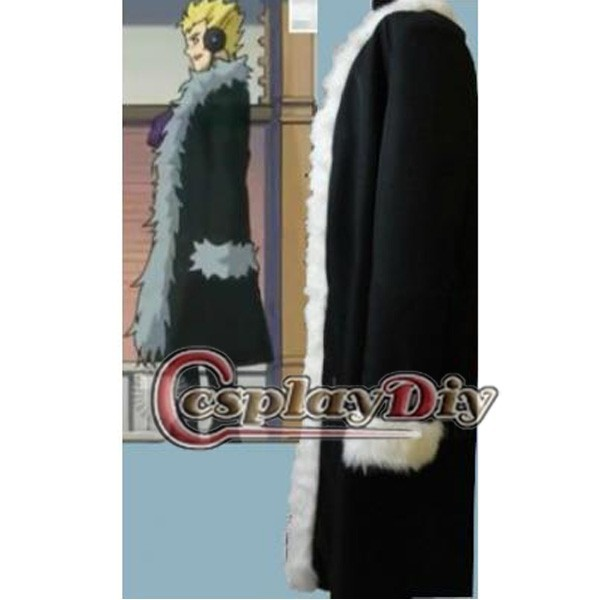 Custom Made Fairy Tail Laxus Dreyar Black Men Coat Anime Cosplay Costume ClothingОдежда и ак�е��уары<br><br><br>Aliexpress