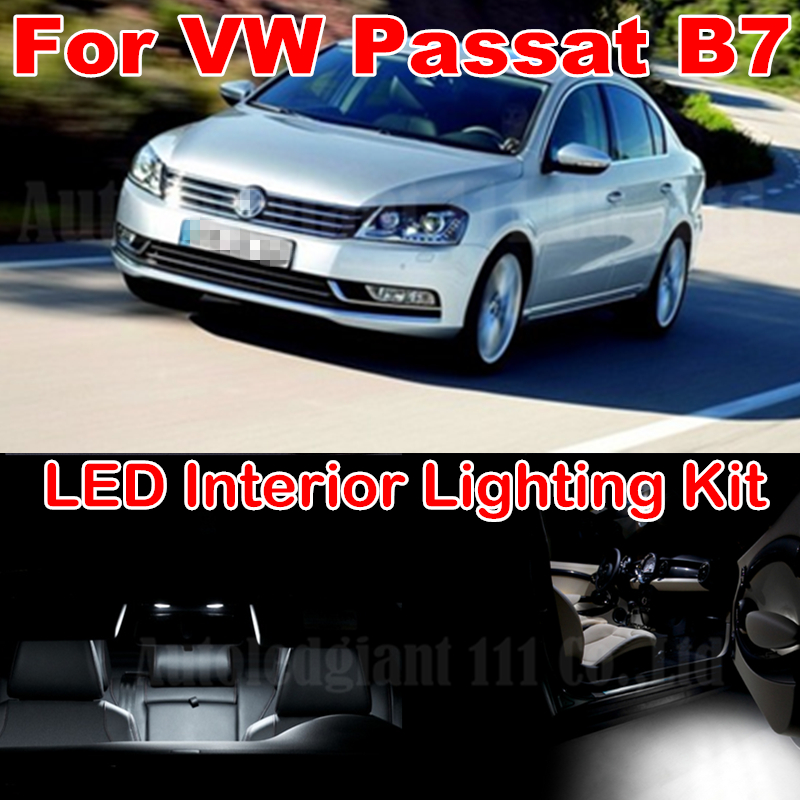 13X Canbus Pure White Error free W5W 36MM C5W Dome Light Volkswagen VW Passat B7 LED Interior Package kit 2012+ - WLJH Carparts Store store