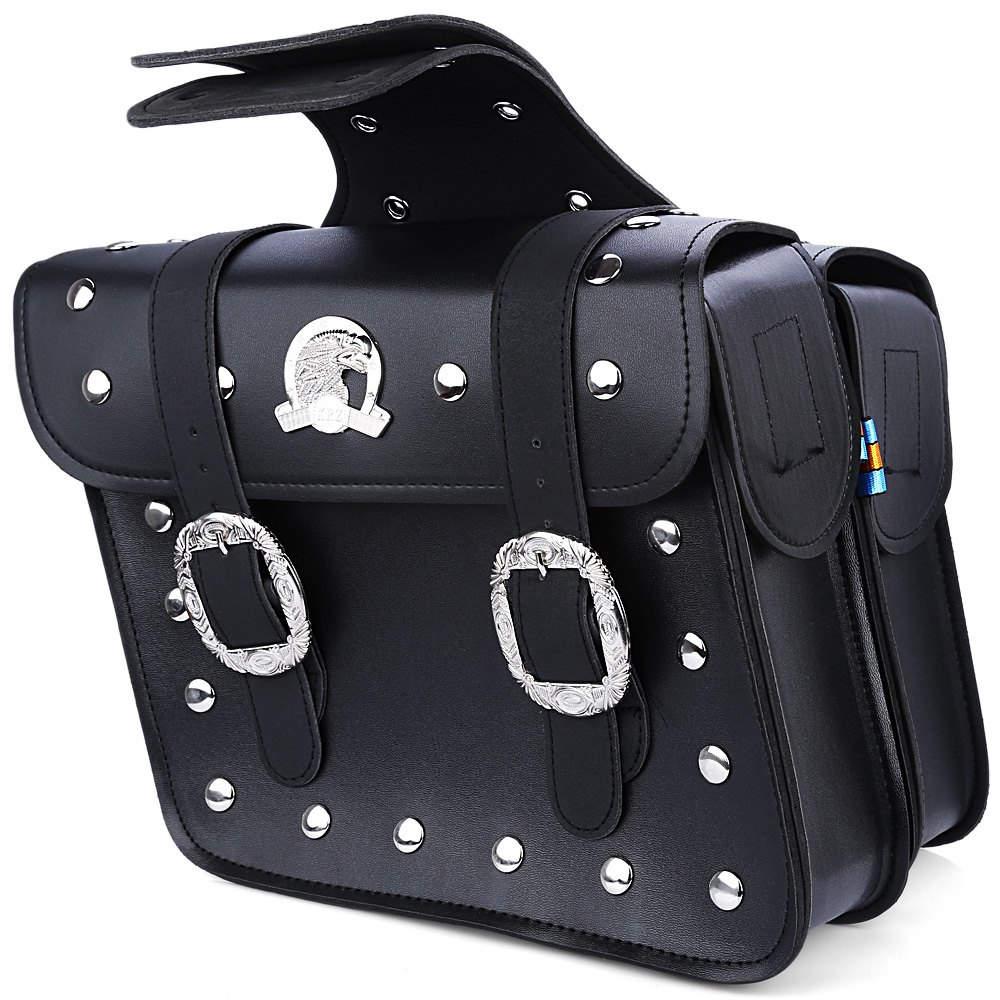New 1pcs Motorcycle PU Leather Saddlebag Saddle Tool Pouch Side Bag Harley Cruiser Storage Pouch with Ample Space to Store(China (Mainland))
