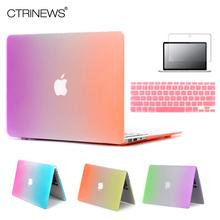 CTRINEWS Rainbow Matte Case For Apple Macbook Air 13 Case Air 11 Pro 13 Retina 12 13 15 Laptop Bag For MacBook Pro 13 Case(China (Mainland))