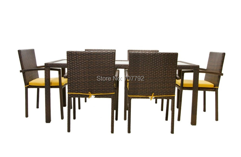 Large Round Rattan Garden Table And Chairs Modern Patio amp Outdoor