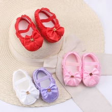 Newborn Baby Girls Princess Bow Lace Flower Kids First Walkers Infant Shoes sapato bebe(China (Mainland))
