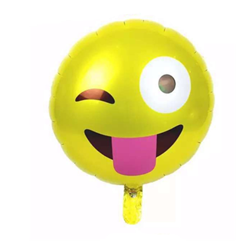 1pcs new toys for children face smiley aluminum balloons birthday party decoration balloon wholesale(China (Mainland))