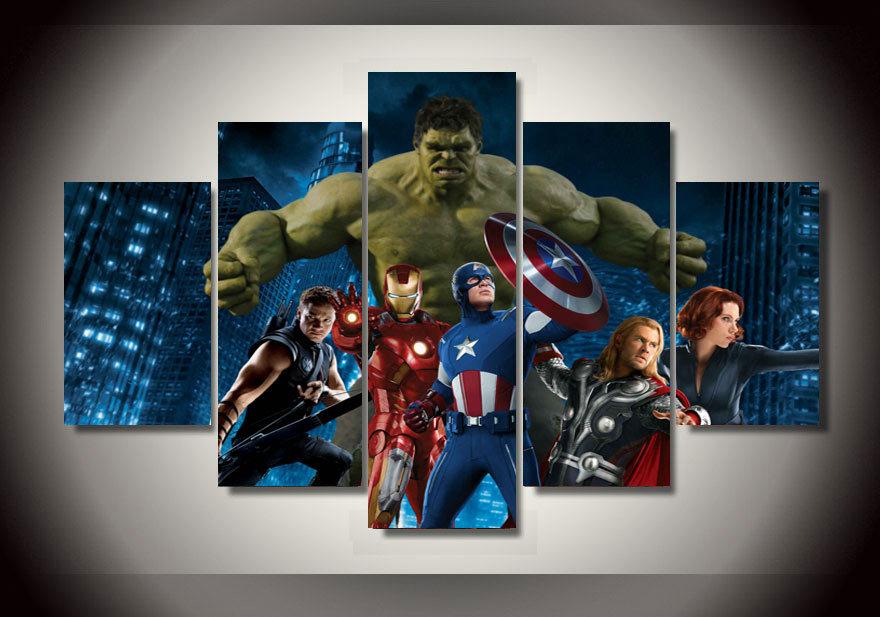 Encadrée imprimé The Avengers film groupe peinture sur toile chambre décorati