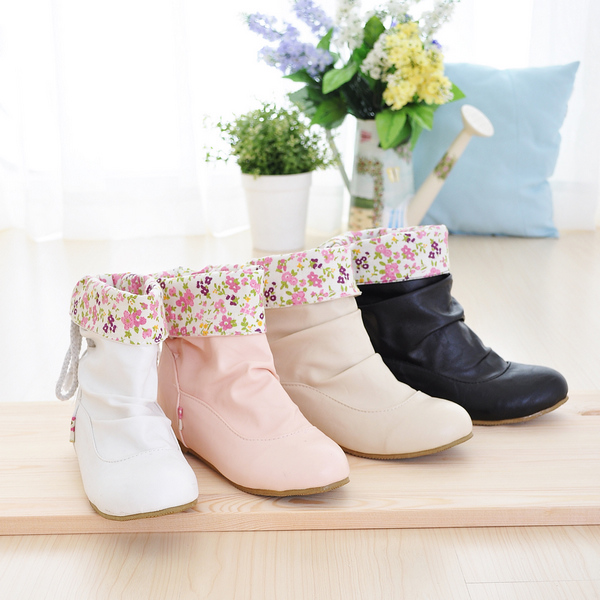 16 New Hot Spring Autumn Fashion Women Boots Winter Boots Increased Students Flat Boots  Cute Casual Women Shoes