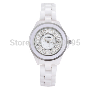 2015 New Couple Lovers Fashion Quartz Watch KEZZI Men Women ceramic Watches Luxury Brand Casual Crystal Wristwatches White k761