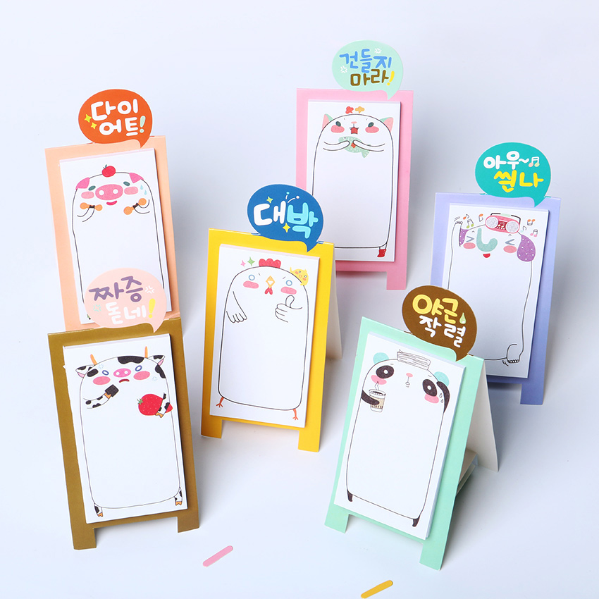 1 PCS Korea Stationery Pretty Kawaii Cartoon Sticker Post It Bookmarker Memo Pad Sticky Note(China (Mainland))