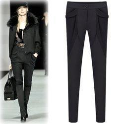 New Women Skinny Pants High Street Fashion Pencil Pants Casual Trousers Harempants Khaki Capris Black Leggings Slim Stretchable