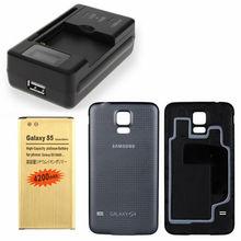 New 4200mah High capacity battery +USB Universal charger+Original 19600  Back cover +EU Connector For Samsung galaxy S5 i9600 (China (Mainland))