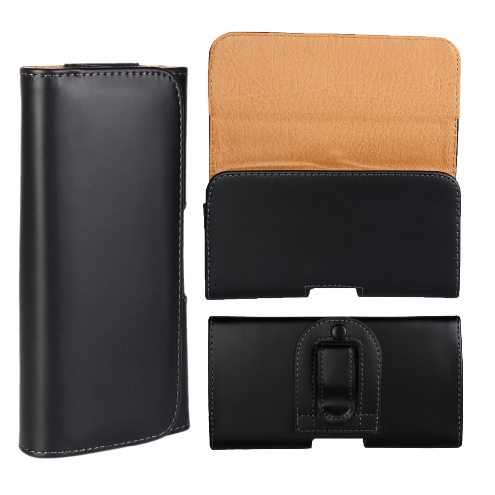 4 Sizes Luxury Universal Belt Clip Flip Leather Pouch Case