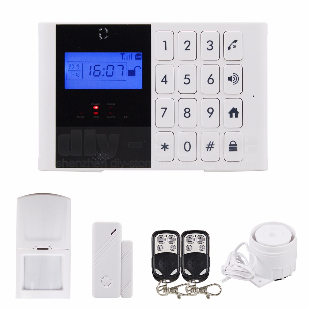 Wireless GSM SMS Intercom / Monitor Security Home Alarm System LCD Screen Two-Way SOS Talking Alarm + Password Keypad M2C-1(China (Mainland))