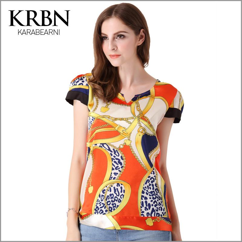 t shirt women tops summer women clothes 2015 woman plus size t-shirt women tshirt short sleeve patchwork print tee shirts A1021(China (Mainland))