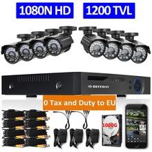 DEFEWAY 720P HD 1200TVL Outdoor Security Camera System 1080P HDMI CCTV Video Surveillance 8CH DVR Kit 1TB HDD AHD Camera Set(China (Mainland))