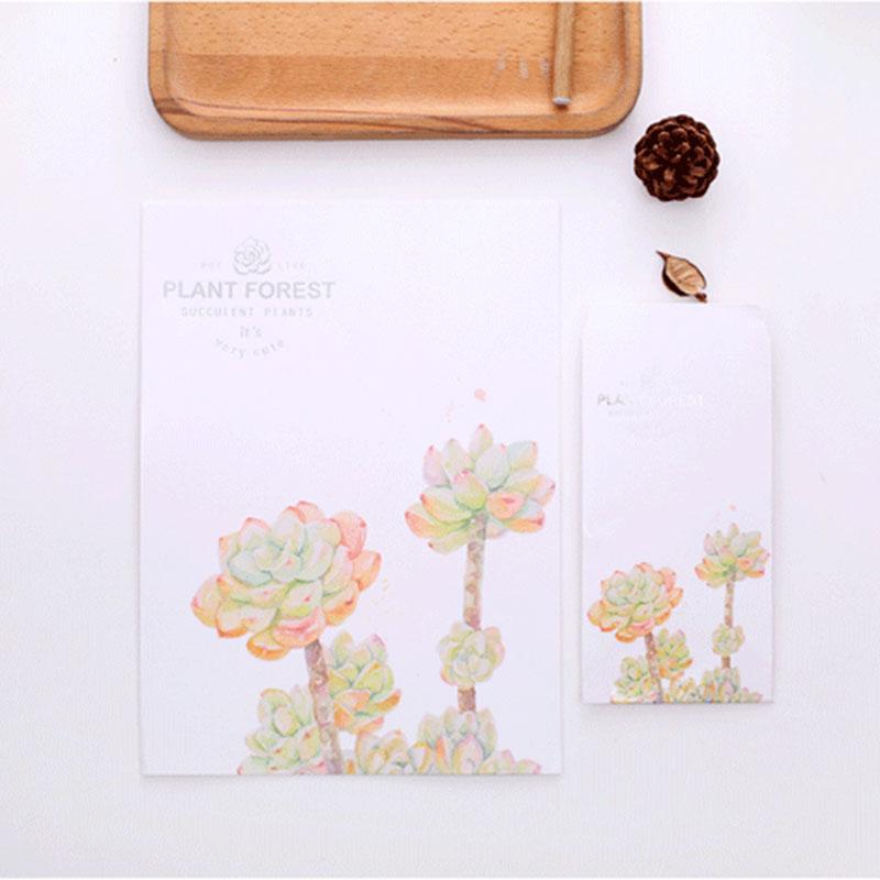 Kawaii 24 sheet letter paper+12 pcs envelopes watercolor Letter pad Set/set writing paper Office&School Supplies Free shipping(China (Mainland))