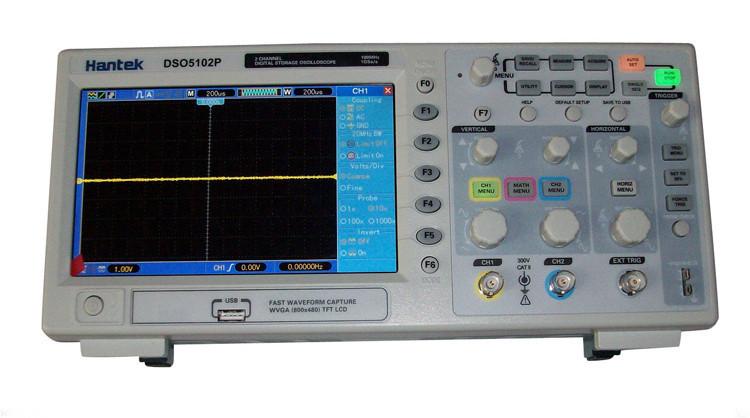 Осциллограф Hantek DSO5102P 100 1Gs/S LCD 7 40K осциллограф siglent sds1102dl 100 2 7 32kpts 500msa s sds 1102dl