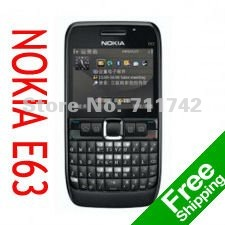 Refurbished brand NOKIA E63 cell phones unlocked E63 mobile phones 3G UMTS WIFI Bluetooth mp3 player(China (Mainland))