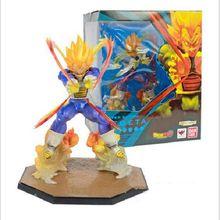 Anime Dragon Ball Z Super Saiyan Vegeta 15CM Final Flash PVC Action Figure Collection Model kids toys Original gift box