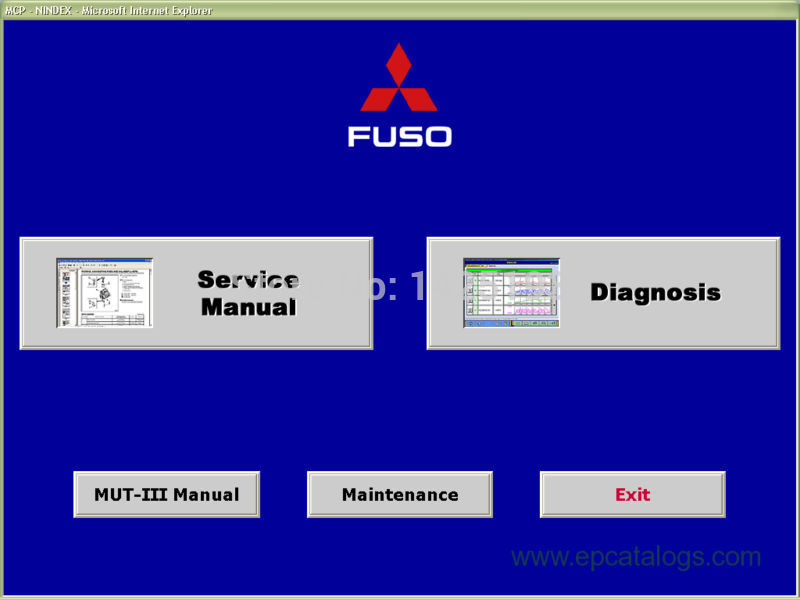 Mitsubishi MUT III (Fuso version) 1.11 (diagnostic system)<br><br>Aliexpress