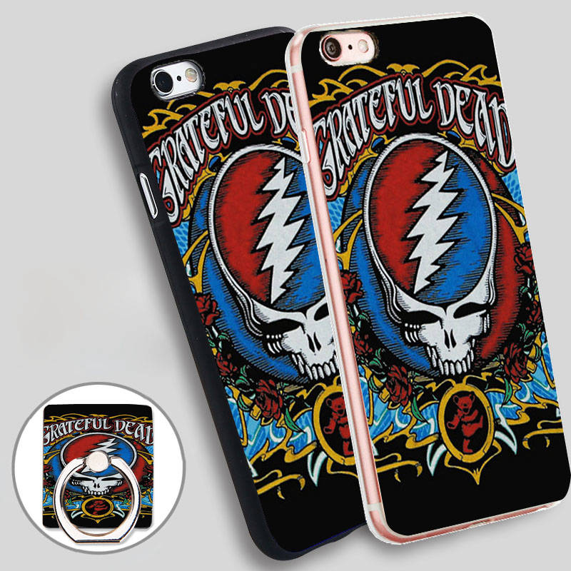 grateful dead t shirt Phone Ring Holder Soft TPU Silicon Case Cover iPhone 4 4S 5C 5 SE 5S 6 6S 7 Plus