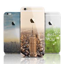 Ultra sottile molle del silicone tpu mountain copertura di caso per apple iphone 6 caso di lusso di modo trasparente molle della copertura posteriore per il telefono(China (Mainland))