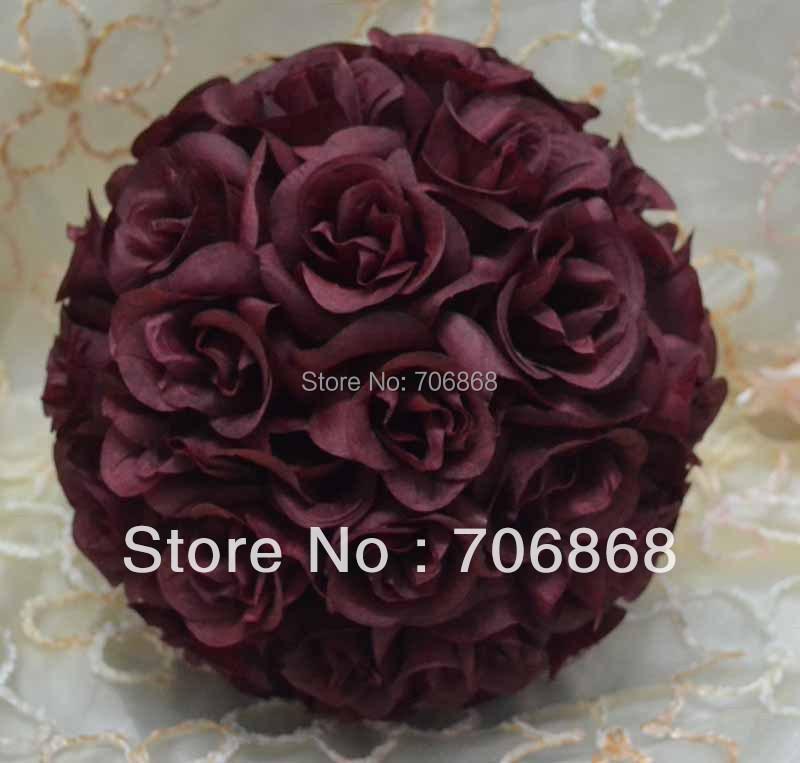 Artificial silk wedding decoration kissing rose flower ball 4(China (Mainland))