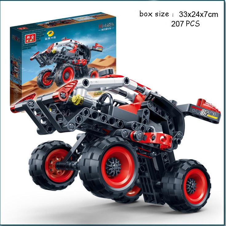 2016 POP Warrior Decert Racer Pull Back Building Block Sets Technic Car Minifigures Blocks Enlighten Toys Compatible Banbao <br><br>Aliexpress
