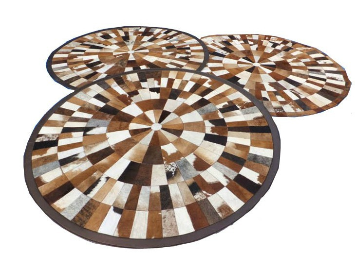 1 piece via DHL 100% natural cow leather hair carpets
