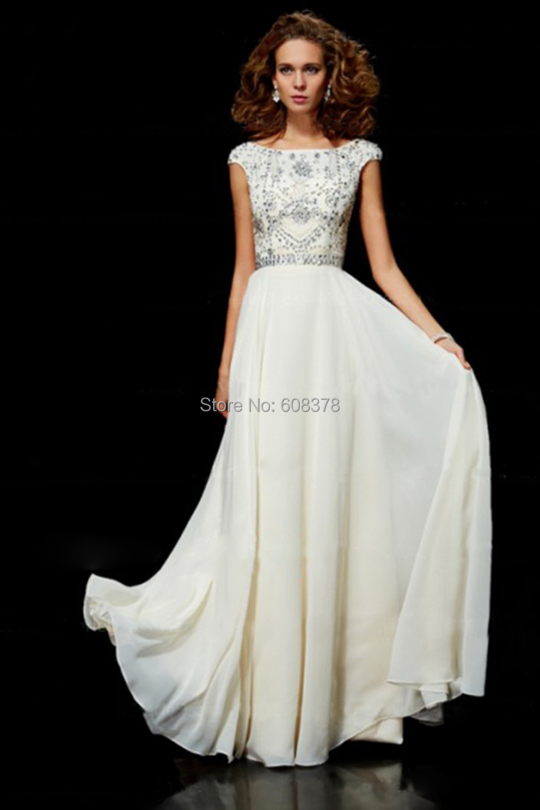 Best selling free shipping chiffon cheap ivory long modest for Cheap modest wedding dresses with sleeves