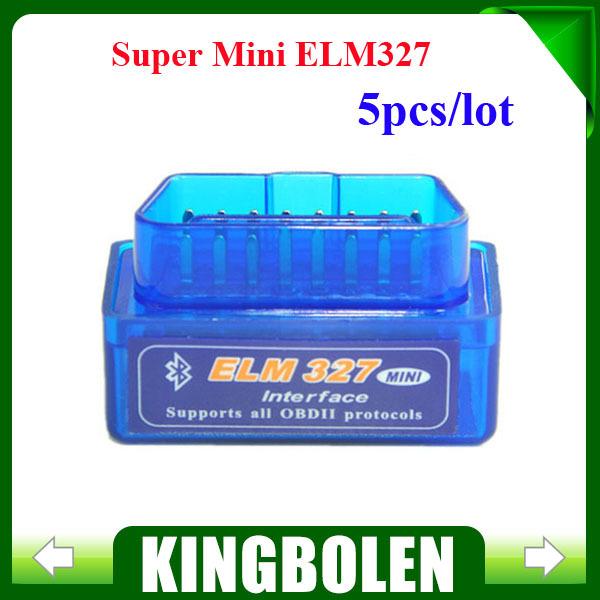 5PCS/LOT 2015 Newest Super Mini ELM327 Bluetooth V2.1 OBD2 ELM 327 Wireless Scan Tool OBDii / OBD2 ELM 327 Bluetooth(China (Mainland))