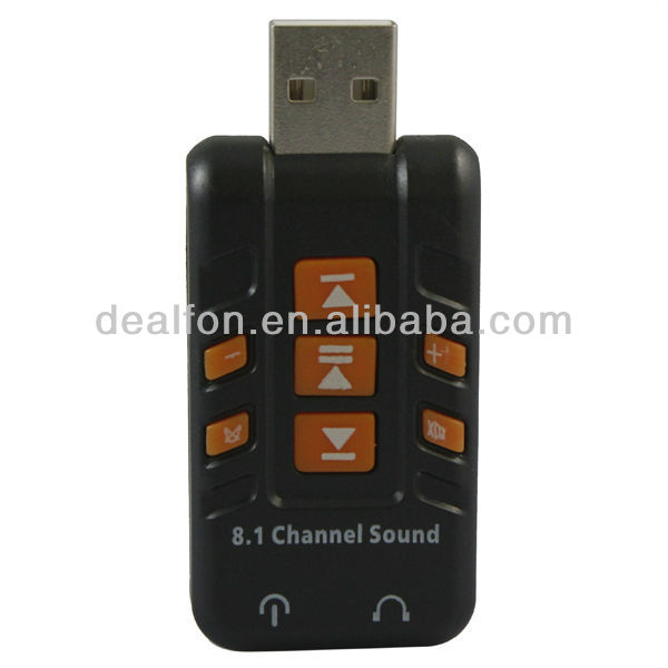 USB External 3D 8.1 Channel Audio PC Laptop Sound Card Adapter(China (Mainland))