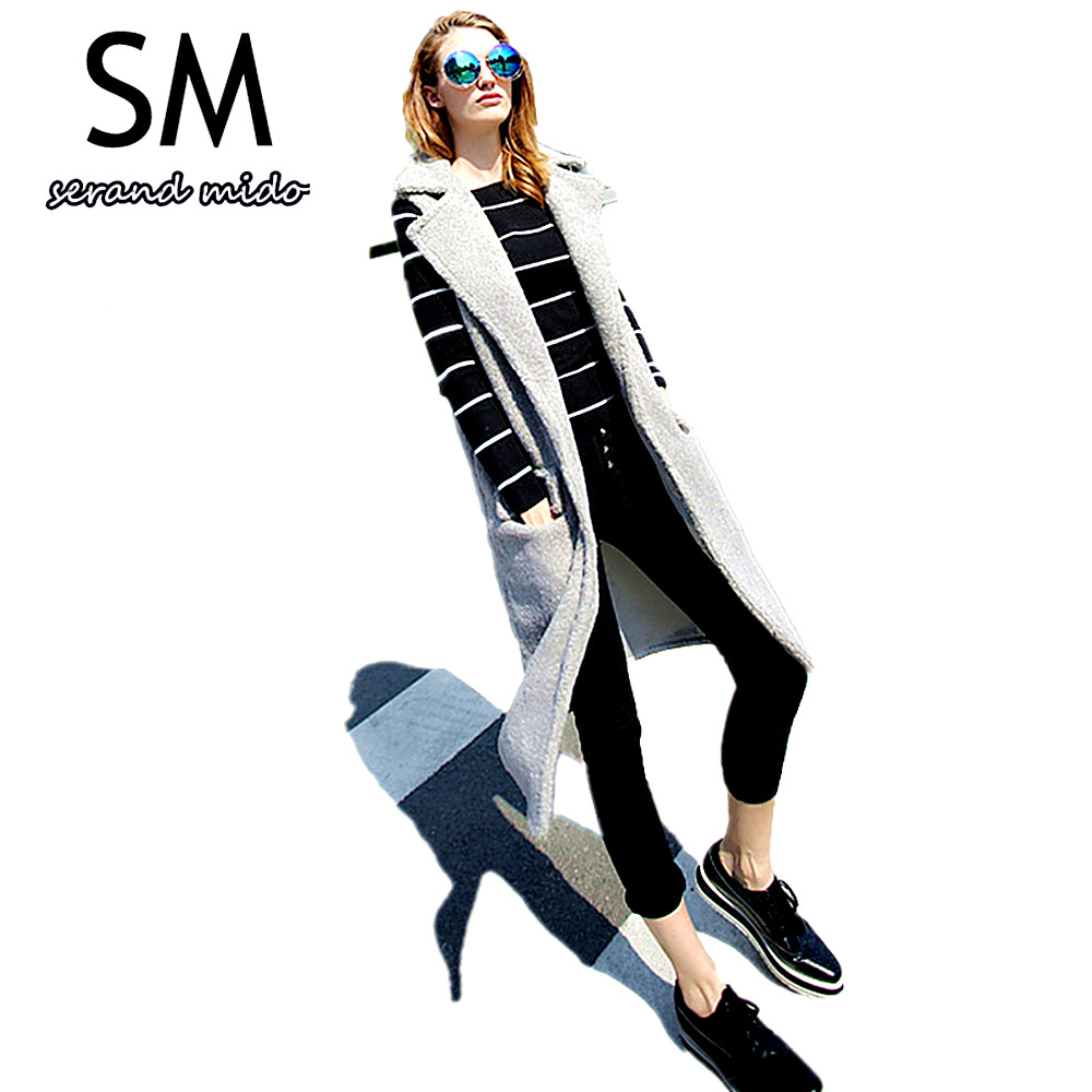 EURO SIZE women winter long vest 2015 womens fall fashion faux fur woman sleeveless outerwear & coats colete femme SM4FF002