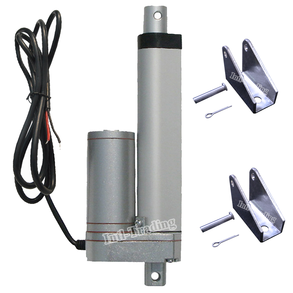 """Set of 100mm 4"""" Inch Stroke Linear Actuator & Brackets 1500N 330 Pound Max Lift Heavy Duty 12V DC Motor for Car Boat Door Auto(China (Mainland))"""
