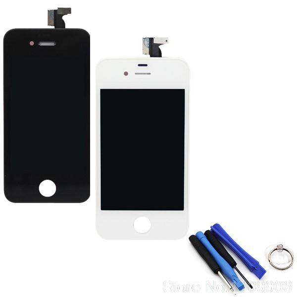 100% Original black & white 20 pcs/Lot For Apple iPhone 4 4G LCD Display Touch Screen digitizer+Frame Replacement Assembly(China (Mainland))