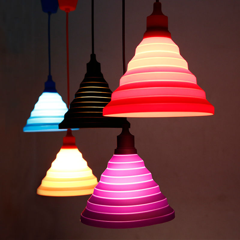 Modern Simple Colorful Silicone Pendant Lights Fashion Diy